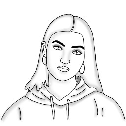 charlidamelio drawing outline tracing edited colorpaint freetoedit