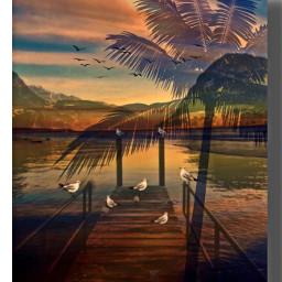 mastershoutout endofsummer goldenhour palm shadowmask freetoedit
