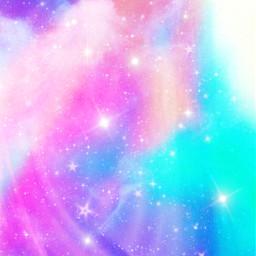 freetoedit glitter sparkle galaxy sky stars pastel colorful rainbow cute art kawaii clouds stardust overlay background wallpaper