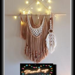freetoedit macrame wallhanging home craft ecneonsign
