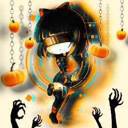spooky manga halloween challenge art cute freetoedit ecgachaclubhalloweenparty gachaclubhalloweenparty