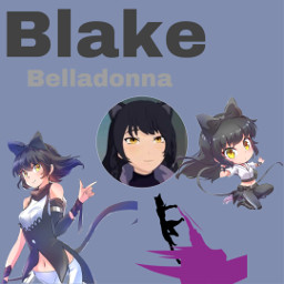 rwby black blake cat freetoedit