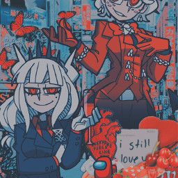 lucifer beelzebub helltaker luciferhelltaker beelzebubhelltaker aesthetic wallpaper moment demon demonharem freetoedit