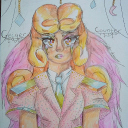 dreams girl orange pink hair curly curlyhair glitter anime animegirl cute cutegirl illistration originalcharacter arttrades rosegold aesthetic