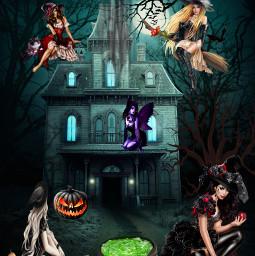 halloween halloweenspirit witches haunted freetoedit fchappyhalloween2020 happyhalloween2020