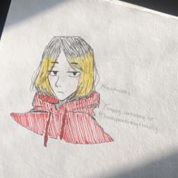 anime drawing doodle art traditionalart animeart sketch kenmakozume kozumekenma nekoma haikyuu haikyu kenmadrawing happybirthday