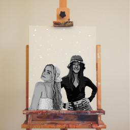 painting sketch paint charli addison dunkin sunrae chaddison friend bbfs viral famous avani zoe freetoedit ircinnerartist innerartist