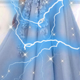 pretty interesting aesthetic blue dress freetoedit