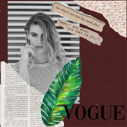 freetoedit repost vogue magazine picsart replay icy stickers rippedpaper plants dust