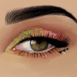custom freetoedit heypicsart sparkles eye