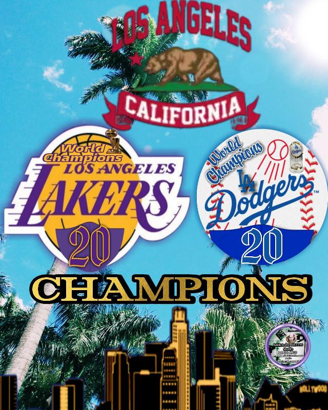 Los Angeles California 2020 Champions  #addicted2successstudio #losangeleslakers #losangelesdodgers #2020 #losangelescalifornia
