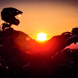freetoedit sunset sunsetlover suzuki suzukivstrom650xt