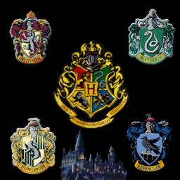 hogwarts harrypotter gryffindor serpentard pouffsoufle serdaigle freetoedit