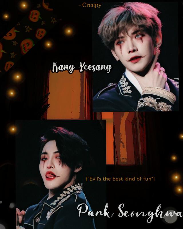 #freetoedit #Ateez #kangyeosang #parkseonghwa #kpop #kpopedit #edit #halloween #dark