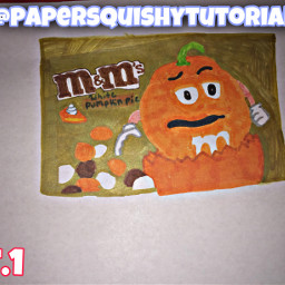 freetoedit halloween art picsart papersquishy craft interesting tutorial candy orange mandms fonts aesthetic