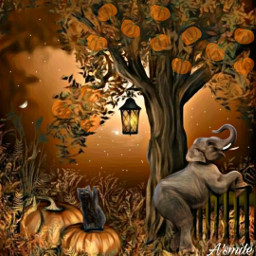 @asweetsmile1 pumkin blendedimages blend creative creativeart background elephants freetoedit srcpumpkins&gourds pumpkins&gourds