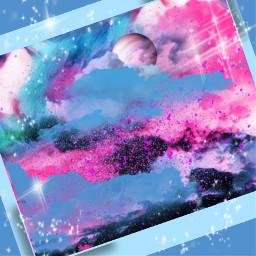 painting skyloversdelight moonlight starsandmoon artist interesting sky effcts stickers party music snow night nature pinkbrush birthday summer pastel picsart spaceaesthetic paintsplatter sparkle glittergalaxy bluesky freetoedit