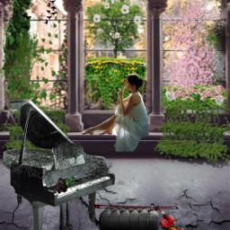 freetoedit courtyard rustic musicalinstruments