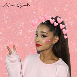 arianagrande art blush crownemoji pink pinkheart gliter party night music people summer freetoedit
