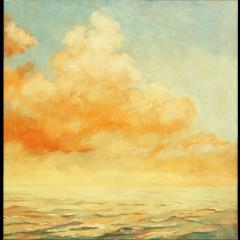 sky yellow cartoon art clouds painting goldsky freetoedit