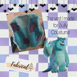 sully costume halloween fabrical cute vest designing diy sewing sew freetoedit