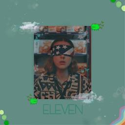 eleven 011 once janehopper strangerthings green freetoedit
