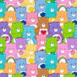 freetoedit carebearsaesthetic carebears collage colorful bears background