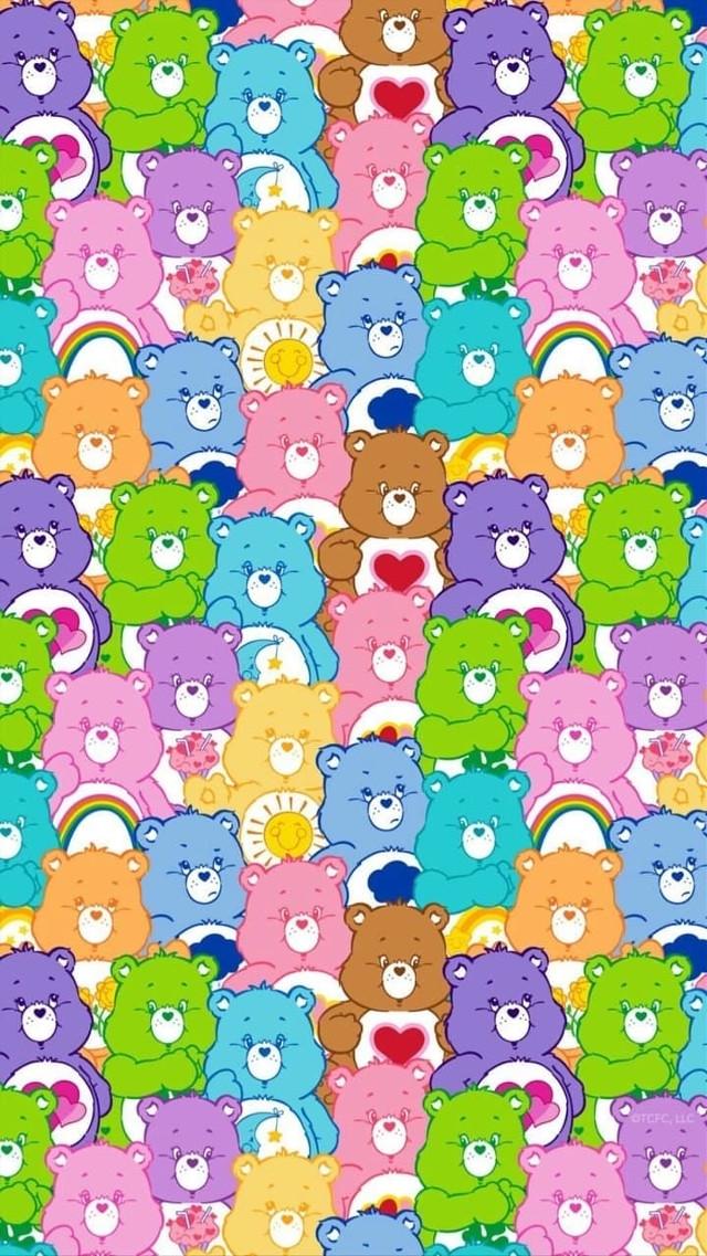 #carebearsaesthetic #carebears #collage #colorful #bears #background