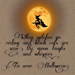 freetoedit halloween halloweencat halloweensilhouette happyhalloween