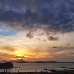 myphoyo mare nuvole tramonto golfo napoli italy🇮🇹 italy