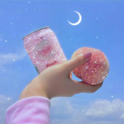 papicks picsart aesthetic aestheticedit aesthetics softpink pink pinky cute girly girls girl glitter shine sparkle anime peach quotes mood moon @picsart freetoedit moon