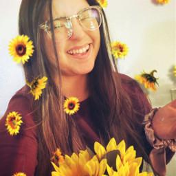 fallmood sunflowerselfie freetoedit