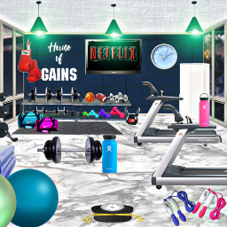 dreamhouse housegym gym workout together gymequipment weights freetoedit