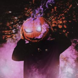 myedit madewithpicsart pumpkinhead scary halloween surreal surrealart heypicsart picsart freetoedit unsplash