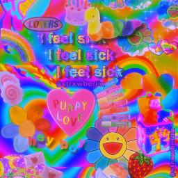 kidcore wallpaper rainbow aesthetic kidcoreaesthetic kidcoreedit strxwberiix