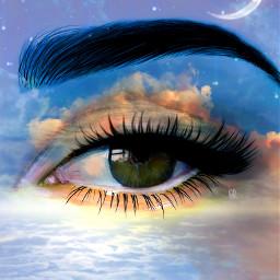 eyeart clouds moon myedit freetoedit