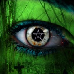 freetoedit witch eyeart unsplash picsarthalloween