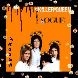 halloween halloweenspirit queenband queen holiday classicrock 70s 80s vintage hippie freddiemercury brianmay rogertaylor johndeacon halloweenart freetoedit