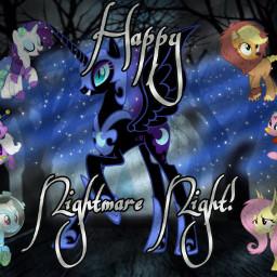 nightmaremoon nightmarenight mlp mane6 mylittlepony mlpedit pinkiepie applejack mlpfim rarity fluttershy rainbowdash twilightsparkle