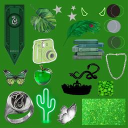 slytherinaesthetic green dracomalfoy snake greenandsilver slytherin freetoedit