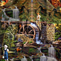@asweetsmile1 background blendedimages blend creative creativeart waterfalls water woods fishing boy freetoedit
