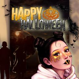 halloween halloweenspirit helloween🎃 helloweenmakeup helloween👻👻 helloweentime helloween🍁👻 helloween💕🕸🕷🕸 helloweenatmosphere women girl teengirl teenager freetoedit helloween