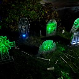 freetoedit halloween spooky frightening graveyard gravestones colors rip skeleton fchappyhalloween2020 happyhalloween2020