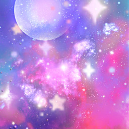 freetoedit glitter sparkle galaxy sky moon stars pastel universe space shimmer night magical dream pretty overlay background wallpaper