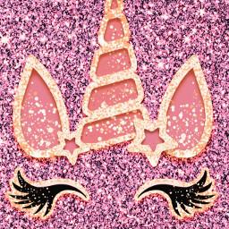 freetoedit glitter sparkle galaxy unicorn stars gold pink bling dream glitz cute girly pastel magical diamonds art overlay background wallpaper