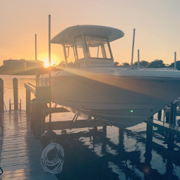 sunset boat beach ocean dock freetoedit