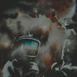 painting painter boys sprayer graffiti moon astronaut clouds freetoedit
