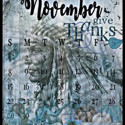 tealcolour calendar 2020 november novembercalendar indian nativeamerican givethanks freetoedit