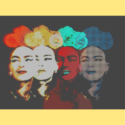 fridakahlo faces frida multipleeffects unibrow_queen freetoedit