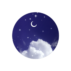 freetoedit blue sky clouds cloud aesthetic aestheticclouds moon aestheticmoon stars shinee circle aestheticcircle